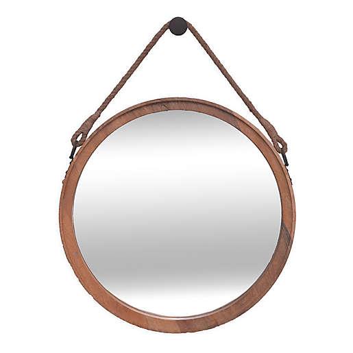Ren Wil Avery 31 5 Inch X 22 Round, Round Wood Frame Mirror Canada