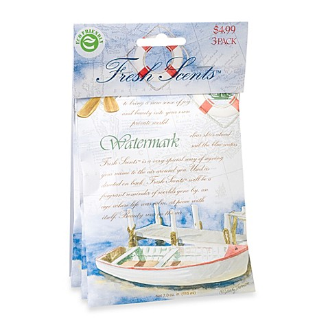 fresh scents™ scent packets in watermark (set of 3) - bed bath