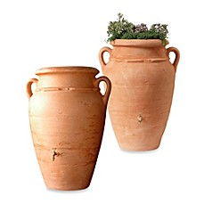 image of Roman Rain Barrel in Terracotta with Planter