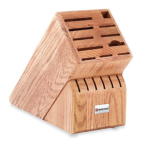 Buy Wusthof 174 17 Slot Oak Wood Knife Block From Bed Bath