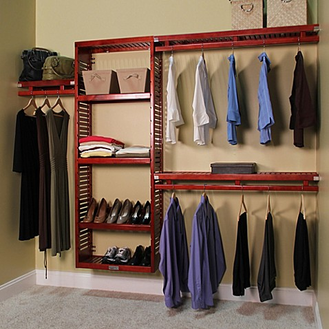 Delicieux John Louis Home Simplicity Closet Organizer In Red Mahogany