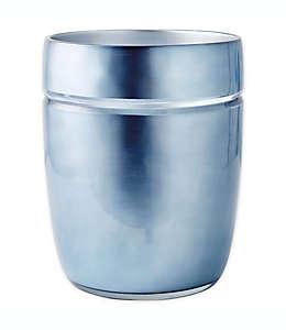 Bote de basura de resina CHF Industries Porter color azul