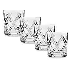 image of Top Shelf Hand Cut Crystal Bevel Double-Old Fashioned (Set of 4)