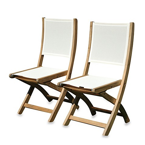 Teak Providence Folding Dining Chairs Without Arms In