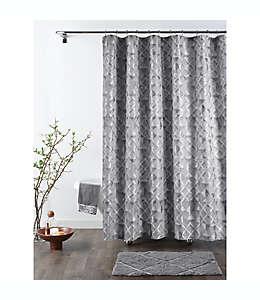 Cortina de baño de poliéster Sloan Croscill® de 1.82 m color plata