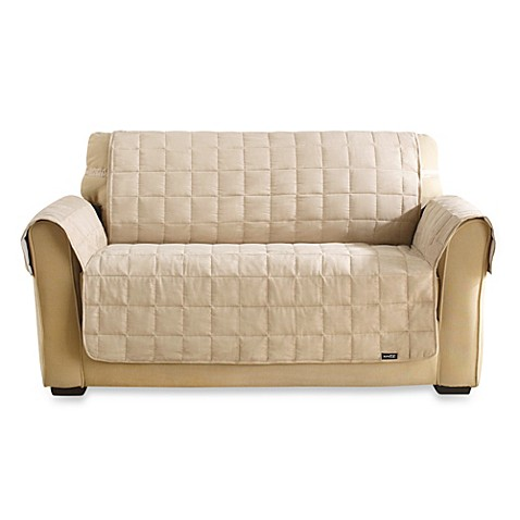 Buy Sure Fit Water Repellant Pet Loveseat Cover In Taupe