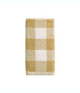 Toalla fingertip de algodón Bee & Willow™ Home a cuadros color café bronceado