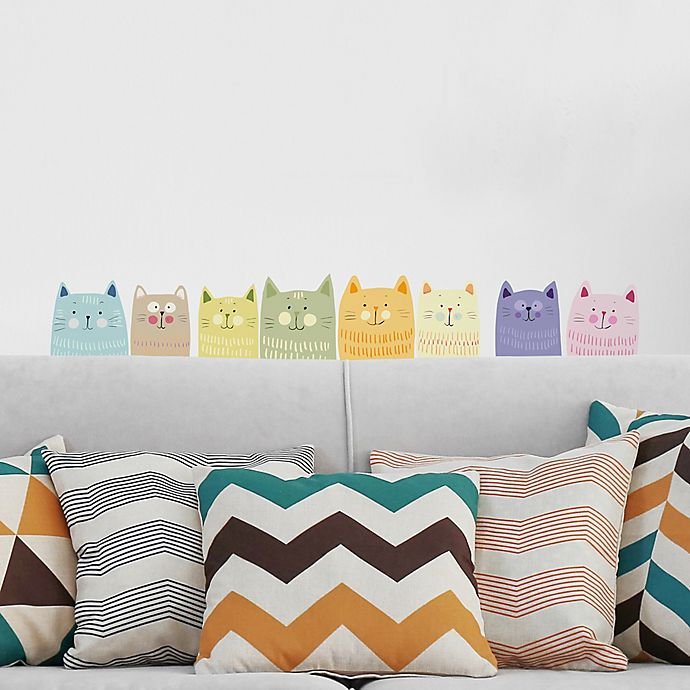 Home Decor Line Multicolor Cats Wall Decal Kit Bed Bath Beyond