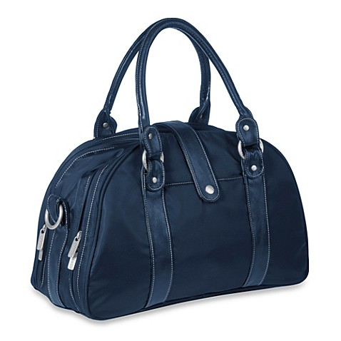 buy lassig glam shoulder diaper bag in navy from bed bath beyond. Black Bedroom Furniture Sets. Home Design Ideas