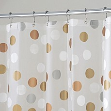 image of InterDesign® Gilly Dot 72-Inch x 72-Inch Shower Curtain