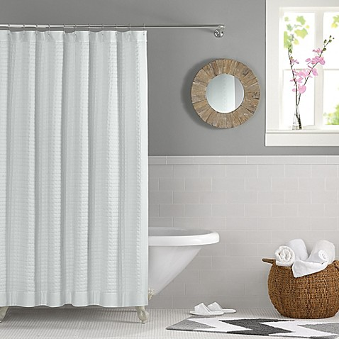 real simple retreat shower curtain