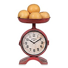 image of Creative Co-Op Metal Clock Scale in Red