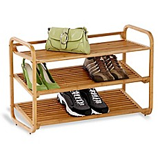 image of Deluxe 3-Tier Bamboo Shoe Rack