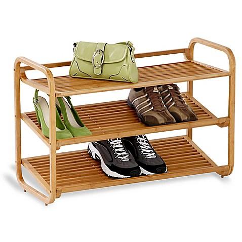 Image Of Deluxe 3 Tier Bamboo Shoe Rack