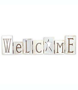 Letrero de bienvenida Malden® en blanco