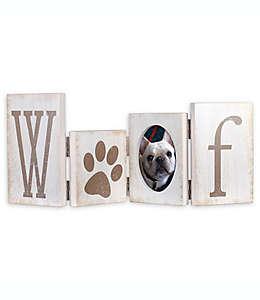 Portarretratos Malden® Woof con bisagras en blanco deslavado