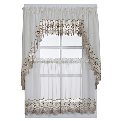 Vintage Sheer Window Curtain Tier Pairs And Valances In