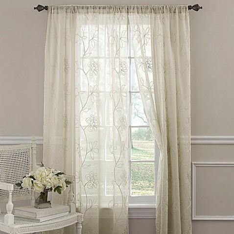 Laura Ashley 174 Frosting Window Curtain Panels Bed Bath
