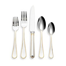 image of Ricci® Ascot Gold-Plated Stainless Steel 5-Piece Place Setting