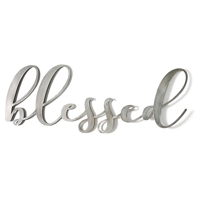 Stratton Home Decor Blessed 41 25 Inch X 15 Wall Art Bed Bath Beyond