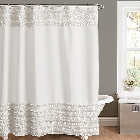Buy Amelie Ruffle 72 Inch X 72 Inch Shower Curtain In