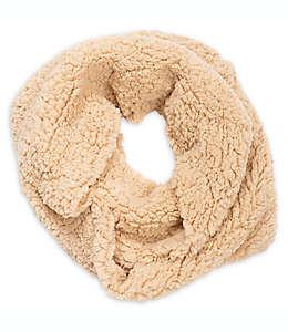 Bufanda circular de peluche para mujer en caqui