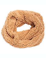 Bufanda circular de peluche para mujer en café