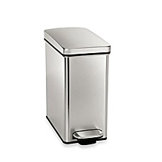 bathroom wastebasket. image of simplehuman  10 Liter Profile Step Wastebasket Bath Cans Trash Can On more Bed