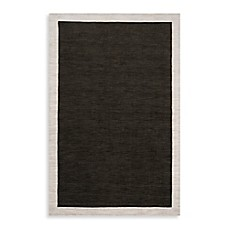 image of angelo:HOME Madison Square Bordered Rug in Black