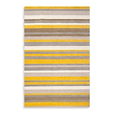 image of angelo:HOME Madison Square Striped Rug in Citrine