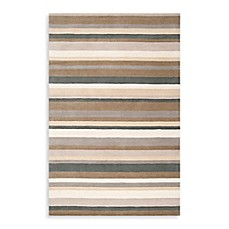 image of angelo:HOME Madison Square Striped Rug in Tan