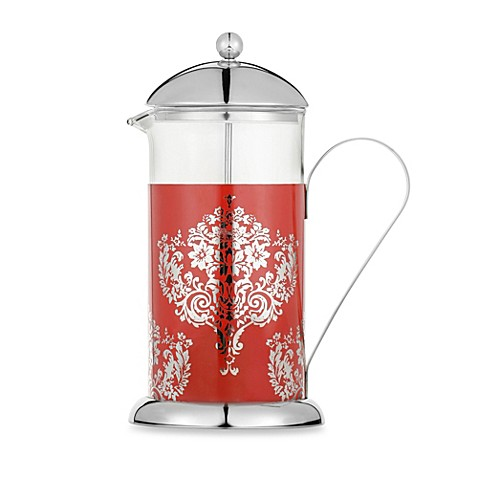 la cafetiere red damask 8 cup french press bed bath beyond. Black Bedroom Furniture Sets. Home Design Ideas