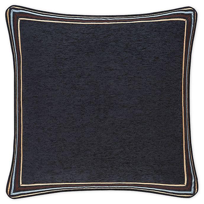 Luciana European Pillow Sham In Indigo, J Queen New York Brandon Bedding Collection
