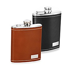 image of Wilouby Genuine Leather 8-Ounce Flask