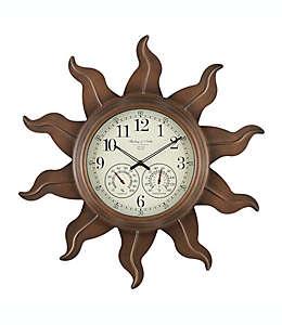 Reloj Sterling & Noble™ con forma de sol para interiores/exteriores