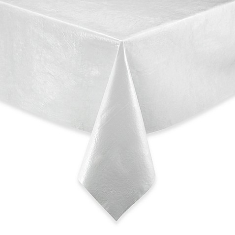 Vinyl Table Pad In White Bed Bath Beyond - Table pad clips