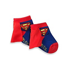 image of Superman Size 0-12 Months Socks With Cape