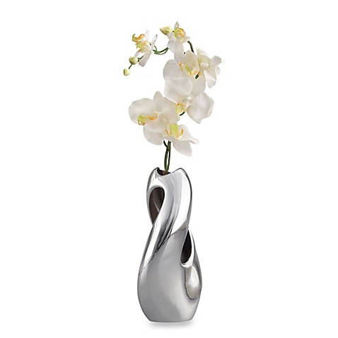 Nambe Heritage Alloy Pebble Twist Bud Vase
