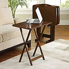 image of Hamilton 5-Piece Snack Tray Table Set