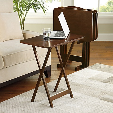 Hamilton 5-Piece Snack Tray Table Set - Bed Bath & Beyond