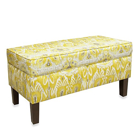 Skyline Furniture Storage Bench In Alessandra Lemon Bed