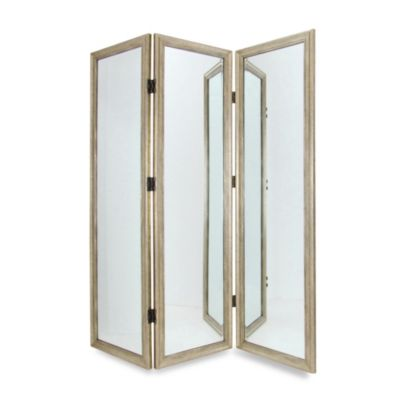 Full Size 3 Panel Dressing Mirror Room Divider Screen Bed Bath