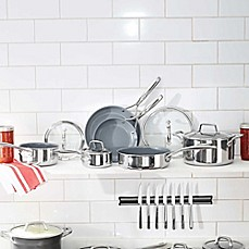 image of Zwilling J.A. Henckels Energy 10-Piece Nonstick Ceramic-Coated Stainless Steel Cookware Set