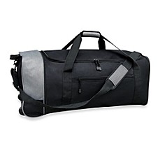Travelers Club 32 Inch Compactable Rolling Duffle With Side Pockets