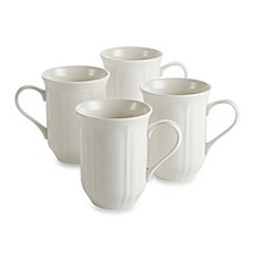 image of Mikasa® Antique White Mugs (Set of 4)