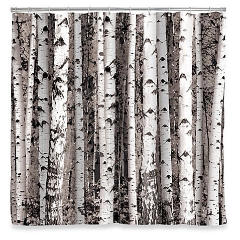Curtains Ideas birch tree curtains : Kikkerland® Design Birch Shower Curtain - Bed Bath & Beyond