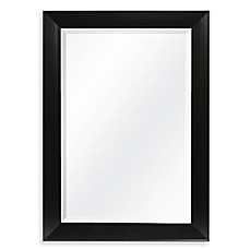 image of decorative 4225 inch x 3025 inch wall mirror in black - Decorative Wall Mirror