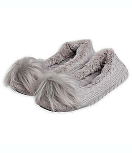 Pantuflas chicas de memory foam para mujer Loft Living color gris