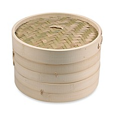 image of IMUSA® 10-Inch Asian Bamboo Steamer