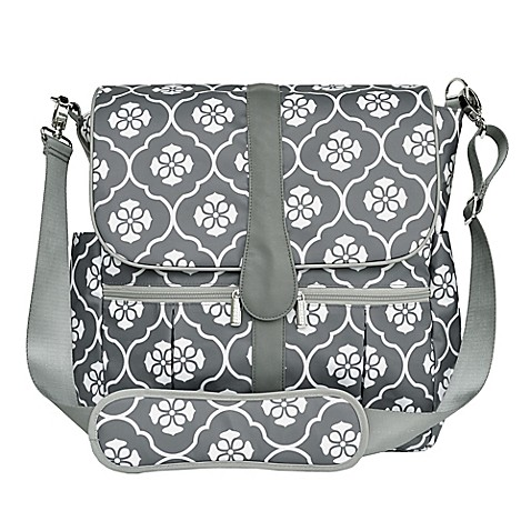 jj cole backpack diaper bag in grey floret buybuy baby. Black Bedroom Furniture Sets. Home Design Ideas